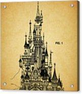 Cinderella Castle Patent Acrylic Print