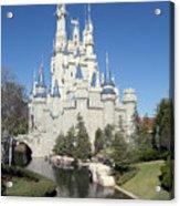 Cinderella Castle Reflections Acrylic Print