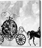 Cinderella's Carriage-black Acrylic Print