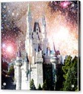 Cinderella's Castle, Fantasy Night Sky, Walt Disney World Acrylic Print