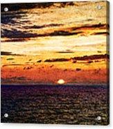 Cinque Terre - Sunset From Manarola - Panorama - Vintage Version Acrylic Print