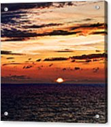 Cinque Terre - Sunset From Manarola - Panorama Acrylic Print
