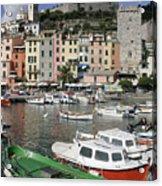 Cinqueterre Boats Acrylic Print