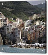 Cinqueterre From The Sea Acrylic Print