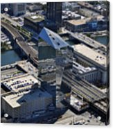 Cira Centre And Amtrak Garage 30th And Arch Streets Philadelphia Pa 19104  Acrylic Print