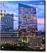 Cira Centre Skyline At Dusk Acrylic Print