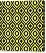Circle And Oval Ikat In Black N05-p0100 Acrylic Print