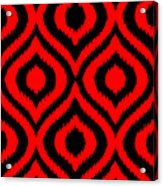 Circle And Oval Ikat In Black T02-p0100 Acrylic Print