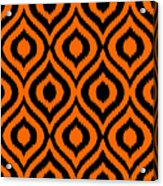 Circle And Oval Ikat In Black T03-p0100 Acrylic Print
