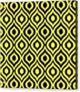 Circle And Oval Ikat In Black T05-p0100 Acrylic Print