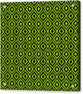 Circle And Oval Ikat In Black T09-p0100 Acrylic Print