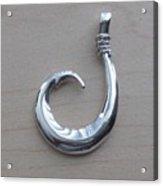 Circle Hook Pendant Acrylic Print