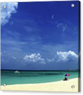 Circle Of Clouds On Grand Cayman Acrylic Print