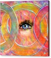 Circle Of Eyes Acrylic Print