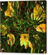 Circle Of Flowers Acrylic Print