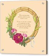 Circle Of Love Acrylic Print