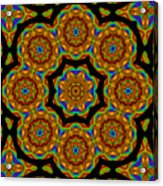 Circled Floral Mandala Acrylic Print