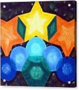 Circles And Stars Acrylic Print