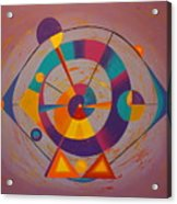 Circles In Space Acrylic Print