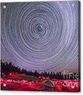 Circumpolar Star Trails Above The Table Acrylic Print