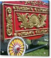 Circus Car In Red And Gold Acrylic Print