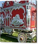 Circus Car In Red And Silver Acrylic Print