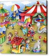 Circus In Town Acrylic Print