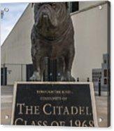 Citadel Bulldog Acrylic Print