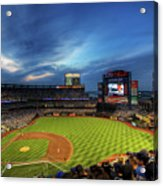 Citi Field Twilight Acrylic Print by Shawn Everhart