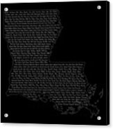 Cities And Towns In Louisiana White Acrylic Print