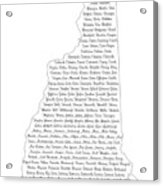 Cities And Towns In New Hampshire Black Acrylic Print