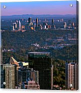 Cities Of Atlanta Acrylic Print