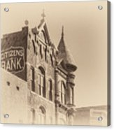 Citizens Bank Sepia Acrylic Print