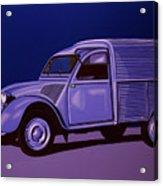 Citroen 2cv Azu 1957 Painting Acrylic Print