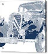 Citroen Traction Avant  - Parallel Hatching Acrylic Print