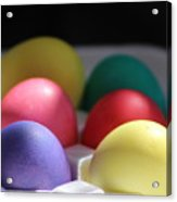Citrus And Ultra Violet Easter Eggs Acrylic Print