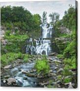 Cittenango Falls Tilt Shift Panorama  Acrylic Print
