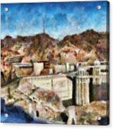 City - Nevada - Hoover Dam Acrylic Print