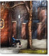 City - Newark Nj - Always Waiting  Acrylic Print
