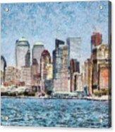 City - Ny - Manhattan Acrylic Print