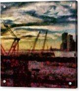 City - Ny - Overlooking The Hudson Acrylic Print