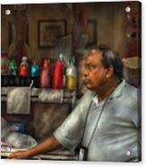 City - Ny - The Pretzel Vendor Acrylic Print