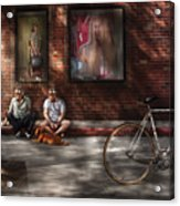 City - Ny - Two Guys And A Dog Acrylic Print