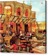 City - Vegas - Cesar's - Lunch In Italy Acrylic Print