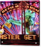 City - Vegas - Ny - The Bar At Times Square Acrylic Print