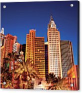 City - Vegas - Ny - The New York Hotel Acrylic Print