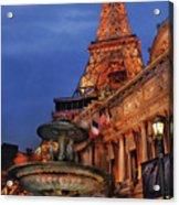 City - Vegas - Paris - Academie Nationale - Panorama Acrylic Print