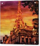 City - Vegas - Paris - The Paris Hotel Acrylic Print