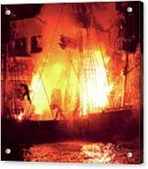 City - Vegas - Treasure Island - Explosion Abandon Ship Acrylic Print