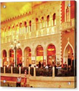 City - Vegas - Venetian - Life At The Palazzo Acrylic Print